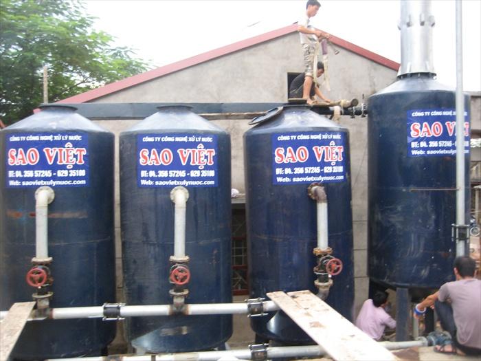 Xử lý nước giếng khoan cs 50m3/h