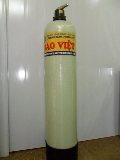 Làm mềm nước sử dụng van hút muối