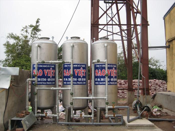 Xử lý nước giếng khoan cs 20m3/h
