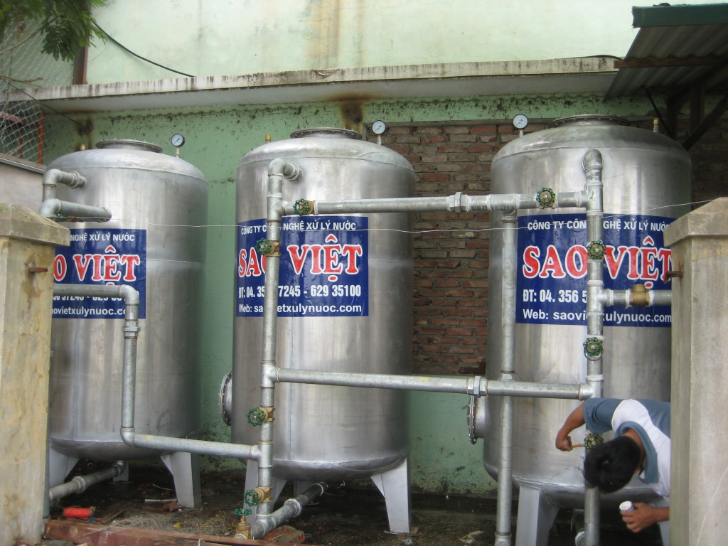 Hệ thống lọc nước giếng khoan cs 30m3/h tại công ty CP Nhôm Đô Thành
