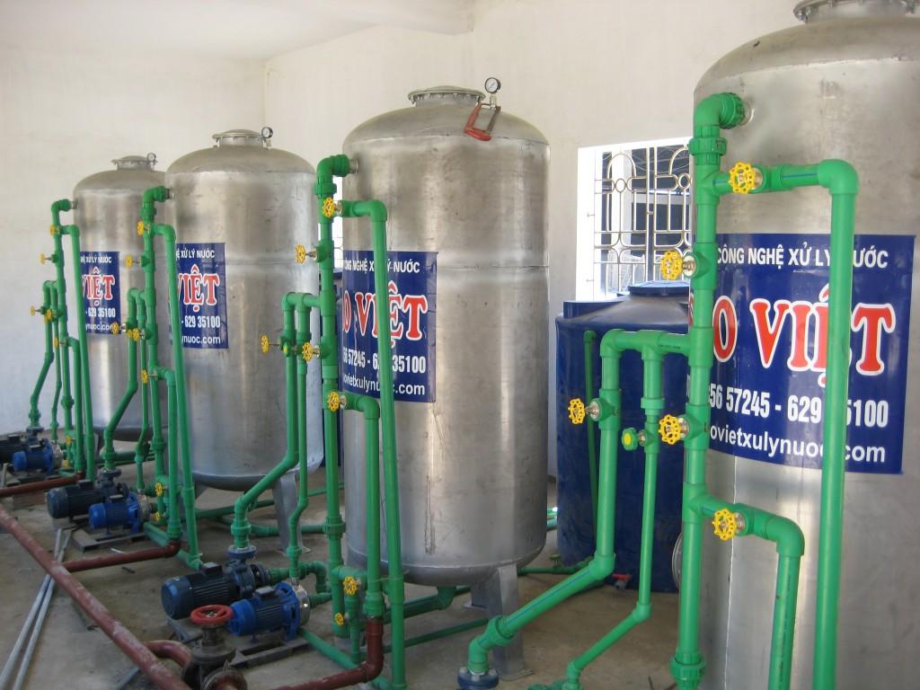Hệ thống làm mềm nước cs 70m3h tại công ty CP Xi măng Hướng Dương