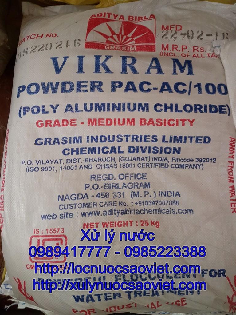 Hóa chất PAC Ấn Độ màu trắng