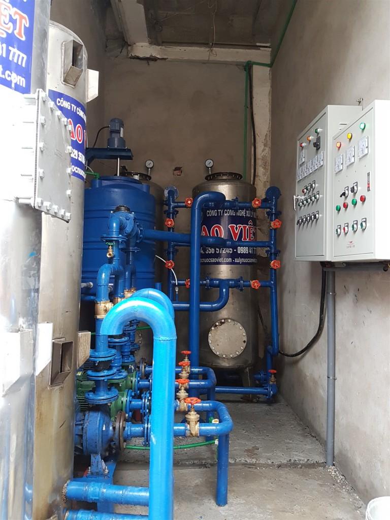 Hệ thống xử lý nước cs 15m3/h tại Khách sạn Nhà hát Thăng Long