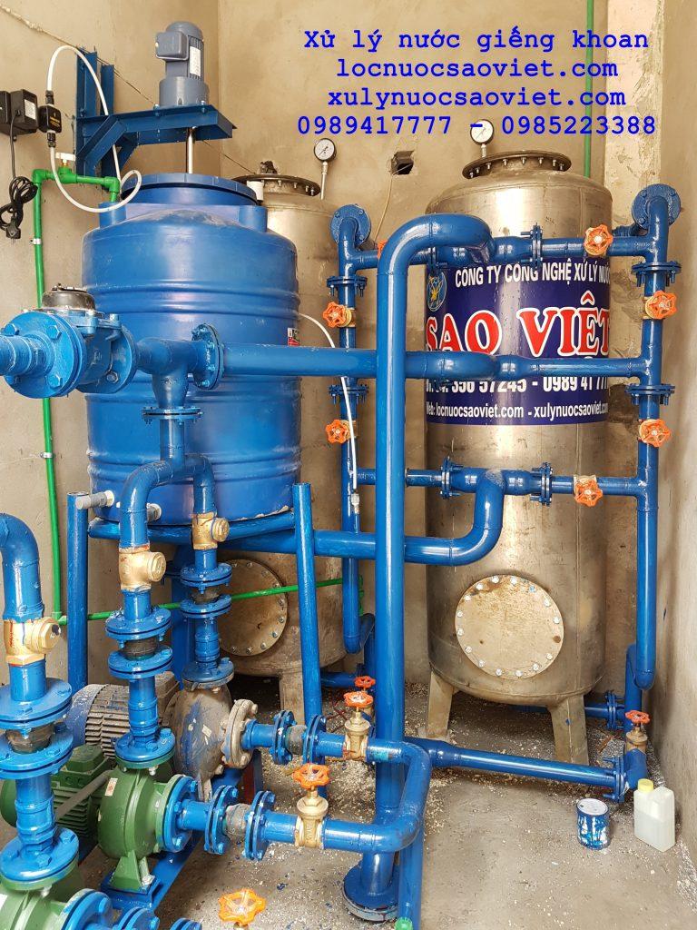 Oxy hóa làm thoáng trong xử lý nước giếng khoan
