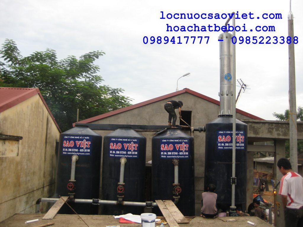 Xử lý nước giếng khoan khử sắt và mangan bằng oxy của không khí