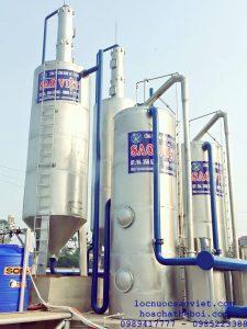 Trạm xử lý nước giếng khoan phục vụ sản xuất sinh hoạt tại nhà máy gạch granite Thạch Bàn Bắc Giang