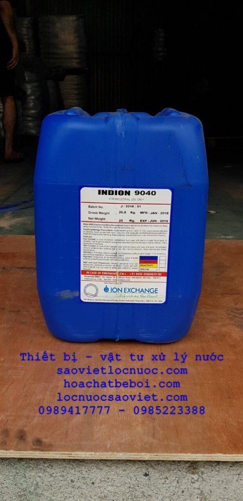 Hóa chất diệt vi sinh tháp giải nhiệt INDION 9040