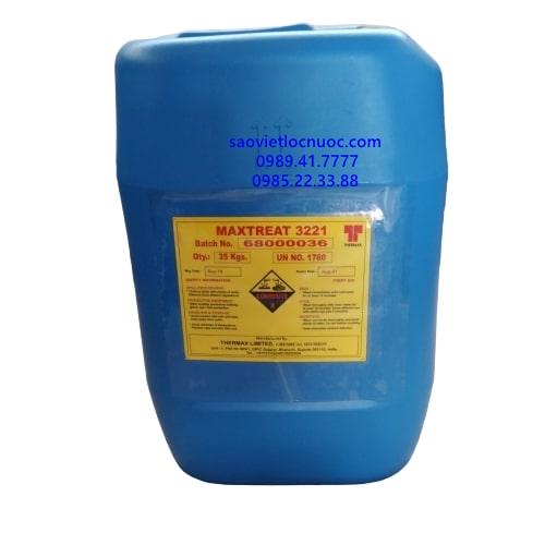 Hóa chất ức chế ăn mòn chống đóng cặn và điều hòa cặn nồi hơi Maxtreat 3221